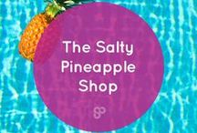 The Salty Pineapple Shop / Shop original pineapple and tropical-inspired designs created by Kat Gaskin.   Be a pineapple and brighten up your home, bedroom, desk and life!   Free worldwide shipping.