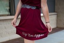 Aggie Game Day Style / Game Day outfit ideas for Texas A&M Aggie College Football fans. We bleed Maroon and White!  / by Arena Blake | The Nerd's Wife