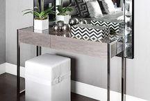 Dressing / Makeup, mirror, Dressing table,