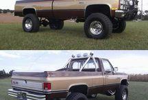 Lifted pick trucks