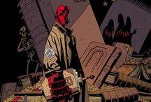 Mike Mignola / Mike Mignola est un dessinateur américain contemporain de comics né le 16 septembre 1962, publiant notamment chez Dark Horse. Il est désormais connu pour sa série Hellboy et ses spin-off - le bureau de recherche paranormale de la défense (B.P.R.D).. Son univers emprunte beaucoup d'éléments à Poe, Lovecraft,… Son style graphique est une ligne claire assez élégante avec de nombreux clairs-obscurs et contrastes. / by Monsieur Pop