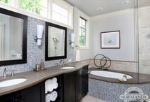 Bathroom Ideas / Real life renovations of Master Bathrooms, Powder Rooms, and Hall Bathrooms.  Remodels completed by Normandy Remodeling in the Chicago area.