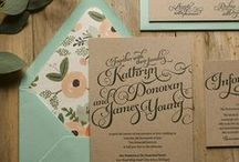 Wedding invites and stationery / Unique wedding invites and beautiful pieces to tie a wedding together