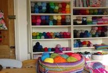 Workspaces and Storage / Craft room idea, yarn organisation, lots of tips and suggestions.