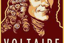 Voltaire / Uma coletânea de pensamentos é uma farmácia moral onde se encontram remédios para todos os males.  Voltaire