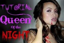 Tutorial Queen of the Night, Sexy Vampire Look for Halloween / by Helen Nguyen