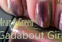 MAC Mean & Green and Gadabout Girl Nail Lacquers Review and Swatches  / by Helen Nguyen