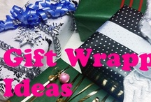 Wrap Like A Pro: Gift Wrapping Ideas / Here are some gift wrapping ideas for the Holiday! #giftwrappingideas #christmas #holiday #giftwrap #creative #tutorial #stepbystep #picturetutorial #howto / by Helen Nguyen
