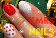 DIY Velvet Nails Christmas Style / DIY Velvet Nails manicure inspired by Christmas. #howto #tutorial #velvetnails #nails #diy #flockingpowder #christmasinspired #naildesign #christmas / by Helen Nguyen