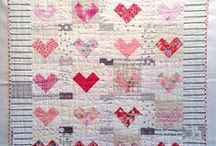 Heart quilts and sewing projects