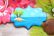 Tropical/Luau Cookies