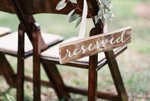 Wedding Signs and Banners / wedding signs - wedding chair signs ideas - wedding banners