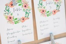 Wedding Seating Charts, Place and Escort Cards