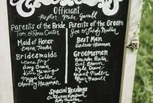 Chalkboard Wedding Ideas / ideas and inspiration for a rustic-themed weddings inspired by chalkboard