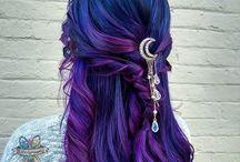 Lila Blau Pink Hair