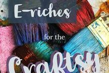 E-riches for the Craftsy / If you love to make your own crafts like Jewellery and other handmade goodies, this is a great board to get all your tips and ideas on how to turn your crafts into an online business or side hustle! | Crafts for Profit | Make Money Online | Etsy Shops | Selling Crafts | Online Businsess |