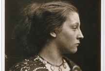 Photographs of Julia Margaret Cameron (1815 – 1879) / Julia Margaret Cameron was a British photographer known for her portraits of celebrities of the time, and for photographs with Arthurian and other legendary themes. Cameron's photographic career was short, spanning eleven years of her life (1864–1875). She took up photography at the relatively late age of 48, when she was given a camera as a present.  / by Leslie Greene