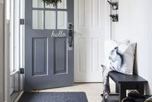 Make an Entrance / The entry way is the first impression of your home, make it count. Check out these entry ways that we love. Find inspiration and design ideas to make your own home entrance leaving guests in awe.