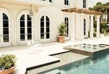 Poolside Design / Beautiful poolside home design.