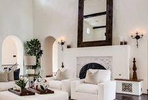 Modern Simplicity / The simplicity of modern home design. Modern Home. Home Design. Simple home design. Clean design. Fresh design. White interior spaces.