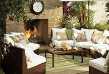 Outdoor Fireside / Outdoor fireside entertainment design. Create your ultimate outdoor fireside entertainment space.