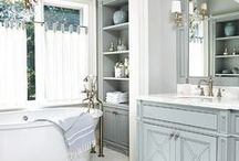 Spa Bathroom / The ultimate spa bathroom of your dreams. Large interior bathrooms with jet tubs, large vanities, double headed showers, and everything else you could possible image. Dream up your ideal luxury bathroom space. Shouldn't you have the spa experience right in your very own bathroom?