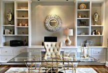 Work At Home / Home office spaces that make it fun to work from home. Beautiful offices that are both appealing and functional. For those who work at home. Home office interior ideas. Update your home office today!