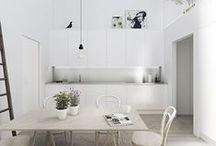 White interiors ★... / BLOG: www.karinecandicekong.com IG: http://instagram.com/bodieandfou FB: http://www.facebook.com/BODIEandFOU CONCEPT STORE: http://www.bodieandfou.com/