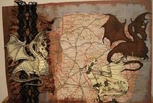 Here There Be Dragons: Maps / I have hated to have to drop out of some of the group boards that I was invited to join because they were totally dominating my page. So only a few invites here. I'm hoping that by inviting people from all over the world, it might get pretty interesting. / by Dru Nichols
