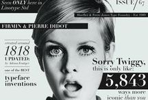 Graphic Design - Magazine Covers / A collection of Illustrated magazine covers