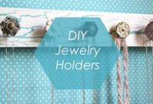 // DIY JEWELRY HOLDERS // / Get some ideas on how to make your own DIY jewelry organizer to display your lovely jewels in style! / by Foxy Originals