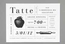 Graphic Design - Invitations / A collection of nicely designed or illustrated invitations.