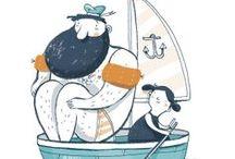 Seafaring - Art & Illustration / I love the sea ! Illustrations and artwork of the sea and seafarer.