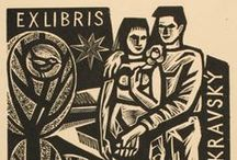 """Graphic Design - Ex Libris - Book Plate Design / Inspirational designs of book plates and labels, also known as """"Ex Libris""""."""