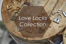 Love Locks Collection / Lock up and throw away the key! These darling love lock charm necklaces symbolize unbreakable love and friendship forever. Whether you give a love lock necklace to your sweetheart or best friend, you'll be sure to bring happiness!  / by Foxy Originals