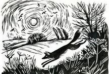 Linocut & Woodcut / Examples of lovely linocut and woodcut design work by various artists.