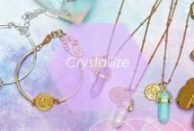 Crystallize / Set your intention for grace, peace and good vibes galore. Both chic and celestial, these pretty pieces will keep you grounded and gorgeous all at once. Namaste! / by Foxy Originals