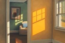 Illustrator - Edward Hopper / Examples of the work of Edward Hopper, one of my favourite American artists. Provides great inspiration for colour palettes and layout for design.