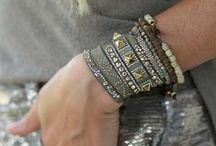 SHOP THE LOOK - BOHO KHAKI / Think neutrals are boring? We SO disagree! To prove it, we styled this eclectic-chic stack of Medium Khaki bracelets with crystals and gold accents, in a combination of patterns that look amazing together. - Wear with any color outfit - Works with denim, athleisure wear or your fave LBD - Mix & match with your bracelet collection to create the ultimate arm-candy Just a few of the reasons Khaki is an incredibly versatile (and interesting) way to accessorize!