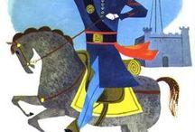 Illustrator - Aurelius Battaglia / Mid-century children's book illustrator Aurelius Battaglia.