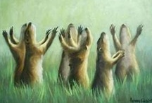 In Praise of the Prairie Dog  / Back in the day the prairie was tamed by communities of these little dogs long before any army of soldiers hit the dirt. Too bad their villages are so few and far between now. Where spotted, they are worth a gander. Especially if you can sit a spell and check out the action. They got communal living down to a prairie dog science. / by Eileen Sayther-West