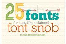 Crafts: Fonts