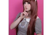 Silky Straight / This lovely layered silky straight wig is inspired by the sleek styles that many Asian pop idols sport. It's a great #wig for #lolita, #gyaru, #mori or just your every day street style!