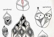 Zentangle - pattern, steps / Zentangle - przykłady, wzorniki, szczegóły, instrukcje