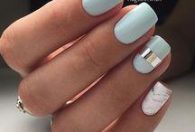 Короткие ногти нежные