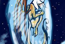 мои работы-1 / Традиционная живопись, графика и digital art