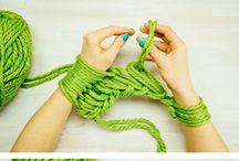 Вязание, выкройки, работа с нитками интересные работы / Примеры- готовые изделия, процесс, схемы