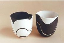 Ceramic pottery - black and white