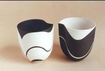 Ceramic pottery - black and white