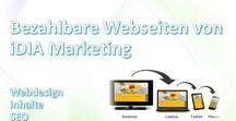 Webdesign, Firmenwebseiten und Landingpages - iDIA Marketing / #Onlinemarketing, #Webdesign und #SEO von #iDIA_Marketing https://idia-marketing.de/webseiten/
